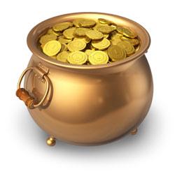 Der ideale Pokal - ein Topf voller Gold ;-)